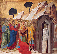 200px-'The_Raising_of_Lazarus',_tempera_and_gold_on_panel_by_Duccio_di_Buoninsegna,_1310–11,_Kimbell_Art_Museum