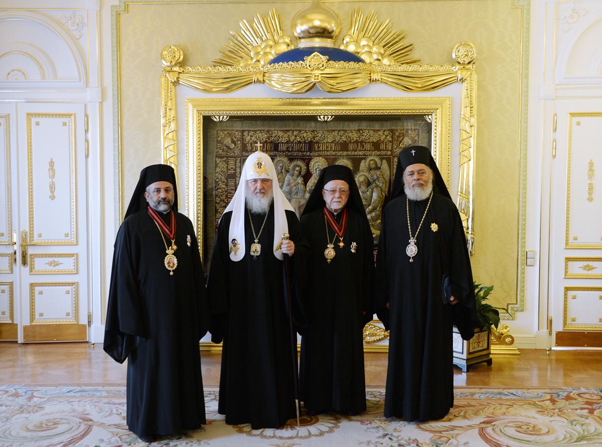 La Delegación Ortodoxa se reúne con el Patriarca Kirill ...