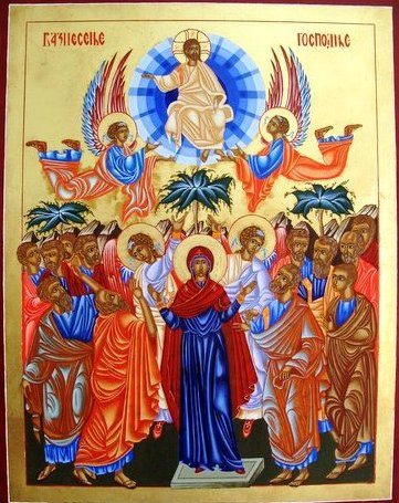 An icon of Pentecost